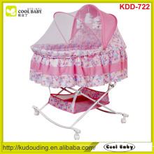 Cool-baby NEW Design Portable Baby Bassinet with Butterfly Mosquito net cover Large Storage Basket Rocking Cradle Child Product