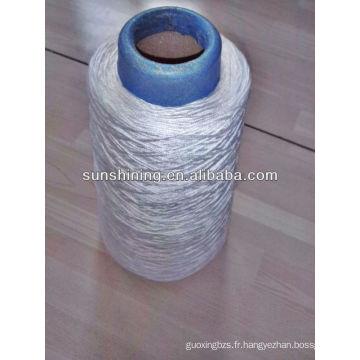30S / 6 fil de rayonne viscose pour fil de tapis blanc brut
