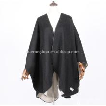 100% cashmere double face cape