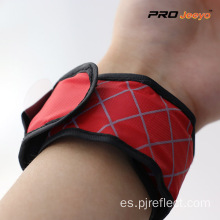 Brazalete de tela escocesa roja Light Nigh Vision LED
