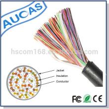 Cable de teléfono subterráneo lleno de jalea profesional multipair cable de alimentación de telecom 0.5mm