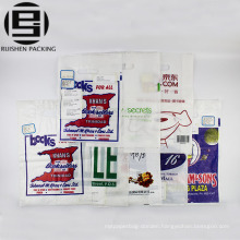 Frosted die cut handle plastic packaging bags