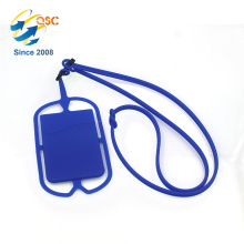 Hot sale tool lanyard accessories with card pocket silicon phone holder
