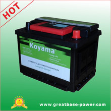 Koyama JIS e DIN padrão 58500 bateria de carro 12V60ah