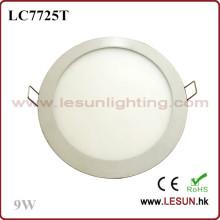 Luzes de painel redondas do diodo emissor de luz do brilho 9W / luz lisa LC7725t
