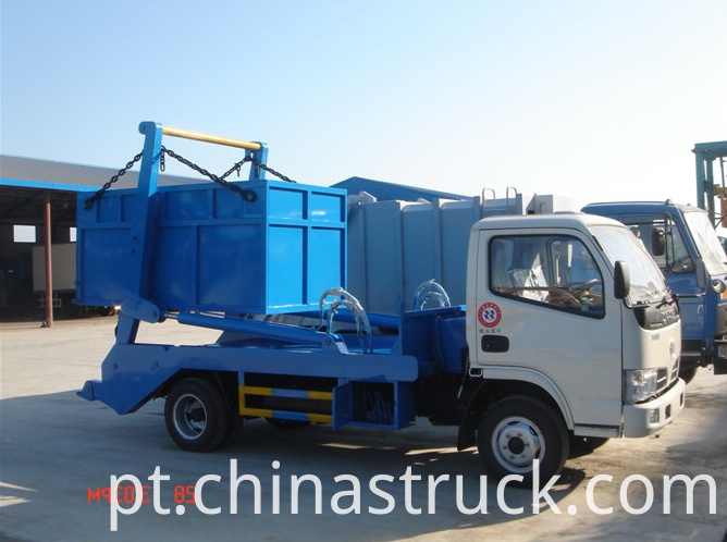 3Ton swing arm type garbage truck