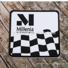 Customize hot sale black color soft pvc coaster with cheap price