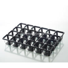 Plastic 24 Divided  Black Trays