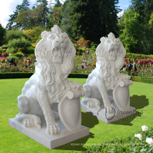 Estatua de mármol de China talla de piedra Talla de mármol tamaño natural del león