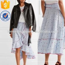 Ruffled Fil Coupe Algodão Wrap Skirt Fabricação Atacado Moda Feminina Vestuário (TA3046S)