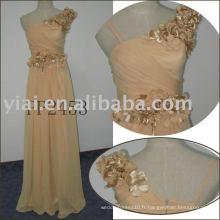 2011 nouvelle arrivée de haute qualité Livraison gratuite un perle à perles en mousseline de soie dres PP2453