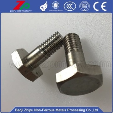 Niobium hex screw for various industries and machings