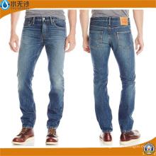 Pantalones vaqueros rectos nuevos de los hombres de Jeans Pantalones vaqueros ocasionales de los pantalones vaqueros