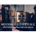 Overflow ball mill armves