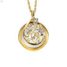 Silberne Blume lange Kette 2x Lupe Anhänger Lupe Halskette