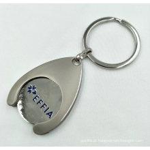 Porta-chaves esmaltado com logotipo genérico