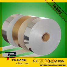 Papel de seda del papel de aluminio / no pegamento papel del papel de aluminio, impreso colorido grabado en relieve pre cortado peluquería pelo papel de aluminio con tejido