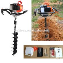 52cc 1700w Handheld perforador de agujero de poste de tierra Taladro de tierra de perforación de pozos Taladro de tierra manual portátil