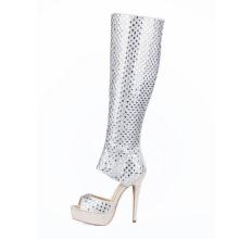 Nueva colección de zapatos de tacón alto con diamantes (HS17-074)