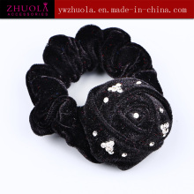 Black Hair Scrunchie for Women