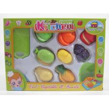 Juego de cocina Juego de juguetes para cortar comida y vegetales para niños