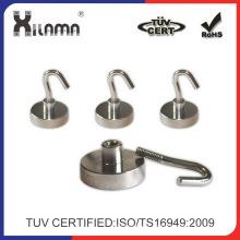50 Pfund Swivel Magnet Haken, Ultra Heavy Duty starke Nickel Neodym Swivel magnetischen Haken Magnet Hersteller