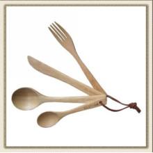 Couteau en bois et jeu de fourche, couverts en bois (CL2C-DBL4)