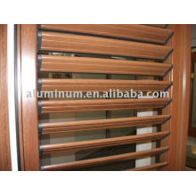 wood grain louver aluminium