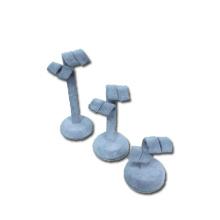Ensemble d'affichage de boucles d'oreilles en velours gris en gros (ES-STG3)