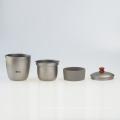 Juego de té de titanio puro Kangtai