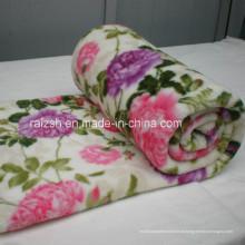 Home Textile Super macio Coral cobertor de lã com impressão de flores