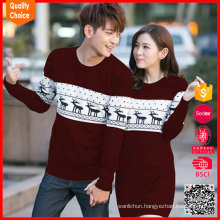 2017 reindeer pattern sweater christmas jumpers for adult
