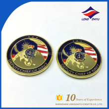 Monedas de oro falsas de precio barato monedas conmemorativas personalizadas