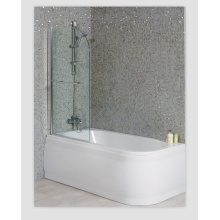 Luxury Left Handed Shower Bath with Straight Bath Screen