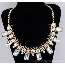 Fashion alliage diamant acrylique 67.6g-400x200x38mm chaîne en or Collier en gros Collier bijoux 09120655