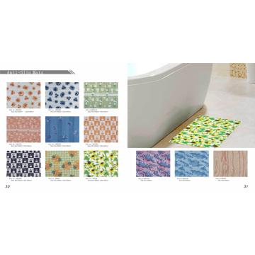 Tapis de bain antidérapant imprimé PVC