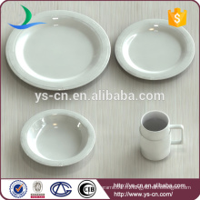 Produits de qualité China Dinnerware White Fine Porcelain Dinner Set