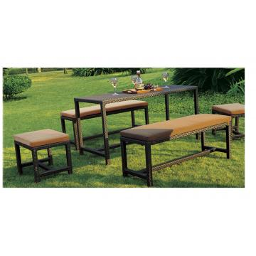 Cheap Patio Muebles Jardín Rattan Bench Set