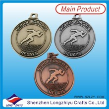 Anitque Gold Silver Bronze Medals Sport Metal Medals Suppiler