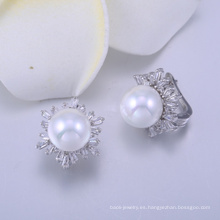 accesorios de lujo de las señoras europa pendiente de plata madreperla pendientes
