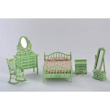 High Quality for Dollhouse Furniture Set Dollhouse Mini Bedroom set export to Spain Factories