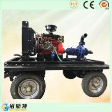 Anhänger Poratble Diesel Motor Selbstansaugende Wasserpumpe Set