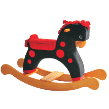 Factory Supply Rocking Horse-Black with Red DOT