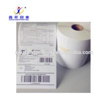 Rollo de la etiqueta de impresión pegatinas de papel adhesivo
