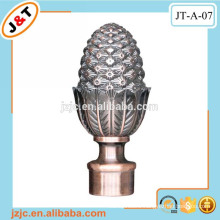 Arabic style curtain plastic pipe end caps, metal runner track iron rod production