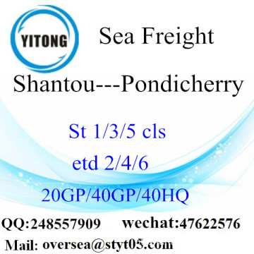 Shantou Porto Mar transporte de mercadorias para Pondicherry