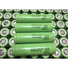 18650 Lithium Battery for Samsung Icr18650-30b 3000mAh 3.7V Laptop Battery