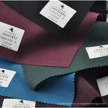 Lã de tecido de terno de sarja de cor chique