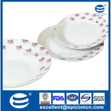 18pcs Hot selling small flowers factory supply ceramic plate for 6 person daily use for Poland market