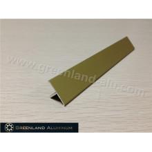 T Suelo de aluminio de transición Tile borde Trim Matt Gold